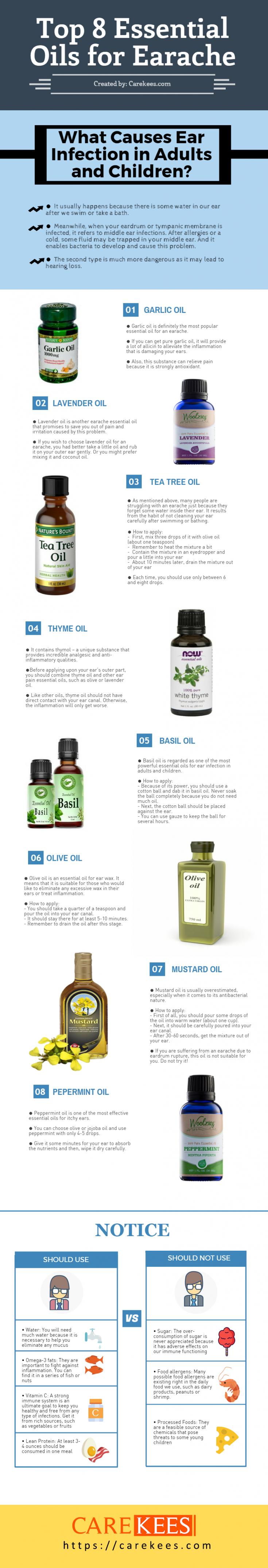 essential oils for earache
