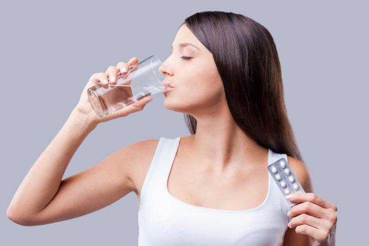 drinking medicine