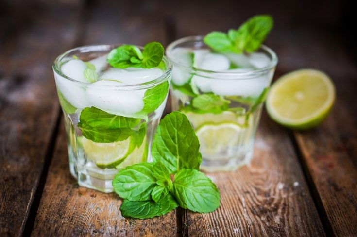 detox water with mint