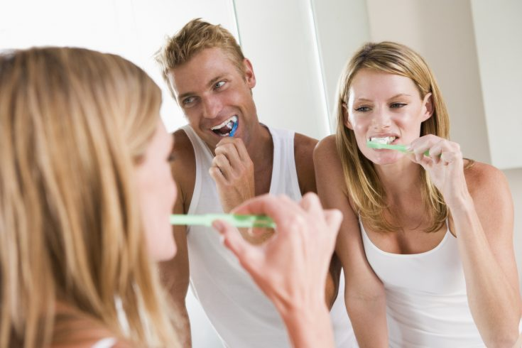 Brushing your teeth twice a day