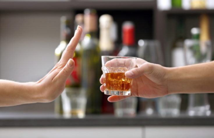 drinking alcohol on a regular basis may irritate the throat