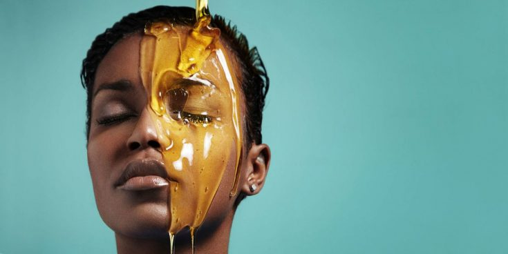 Pat your skin with honey