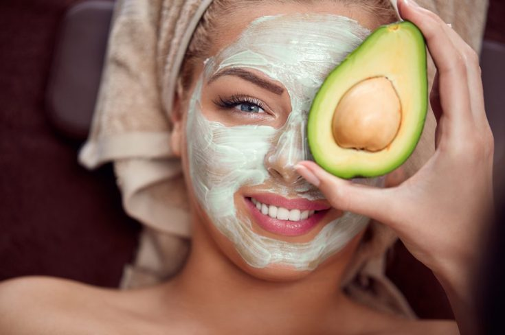 Facial mask from fruit peels