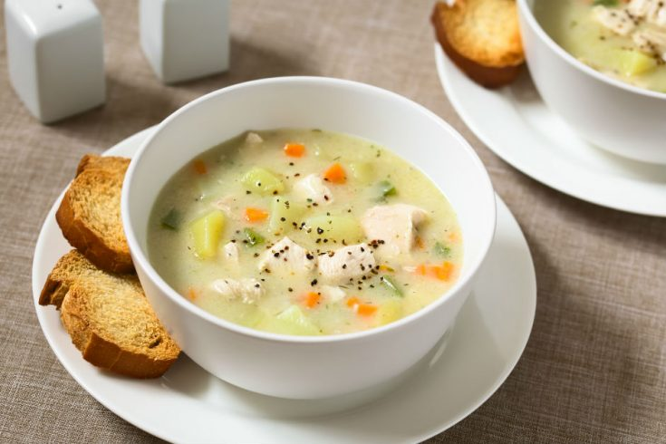 A delicious and warm bowl of chicken soup is a great treatment for chills