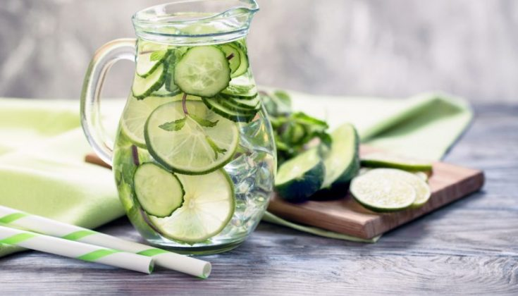 Mixing cucumber juice with lemon juice and rose water to inhabit the growth of bacteria which cause acne